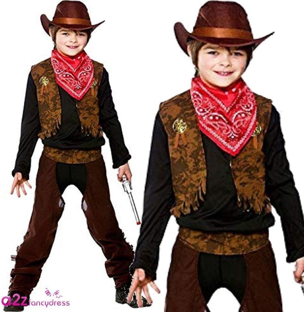 110-122 cm Boys Wild West Cowboy Fancy Dress Costume Small