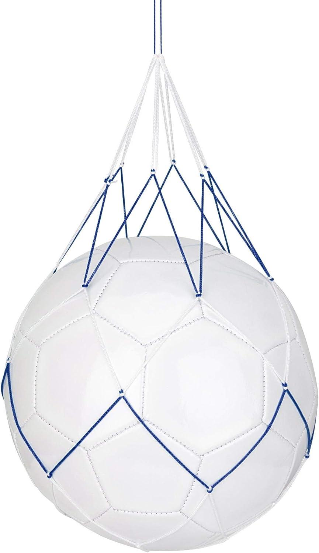 Schreuders Sr Deq Red para 1 Bolsa de balones Fútbol, Adultos Unisex, Multicolor (Blanco/Azul), Talla Única: Amazon.es: Deportes y aire libre