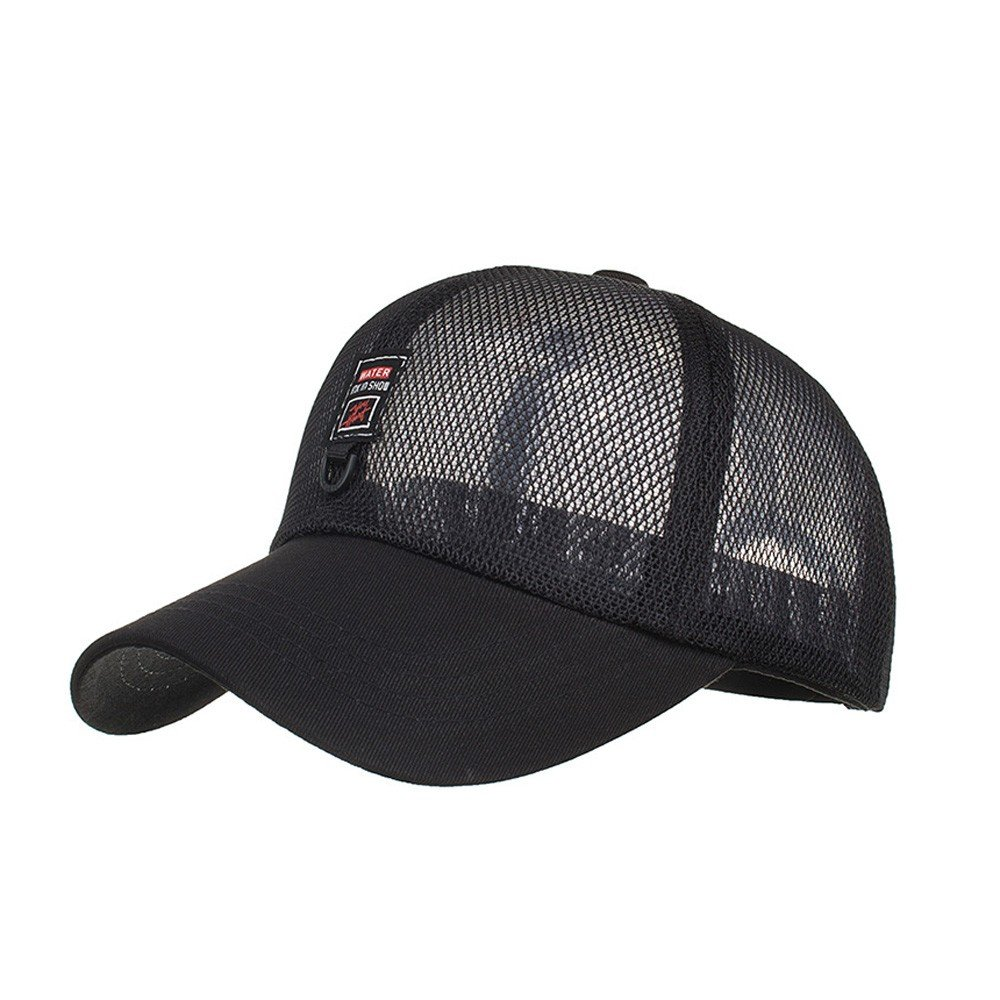 2bc4543b87f3b2 Amazon.com: Unisex Fashion Golf Hat Adjustable Summer Solid Letter Cap Hats  Ventilation Full Mesh Baseball Hat UV Protection Cap (Army Green): Clothing