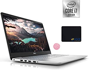 Dell 2020 Inspiron 5000 Series 15.6'' FHD Laptop, 10th Gen Intel Quad-Core i7-1065G7, 32GB DDR4 RAM, 1TB PCIe NVMe SSD, HDMI, Wireless-AC, Backlit Keyboard, Windows 10, Silver, KKE Mouse Pad