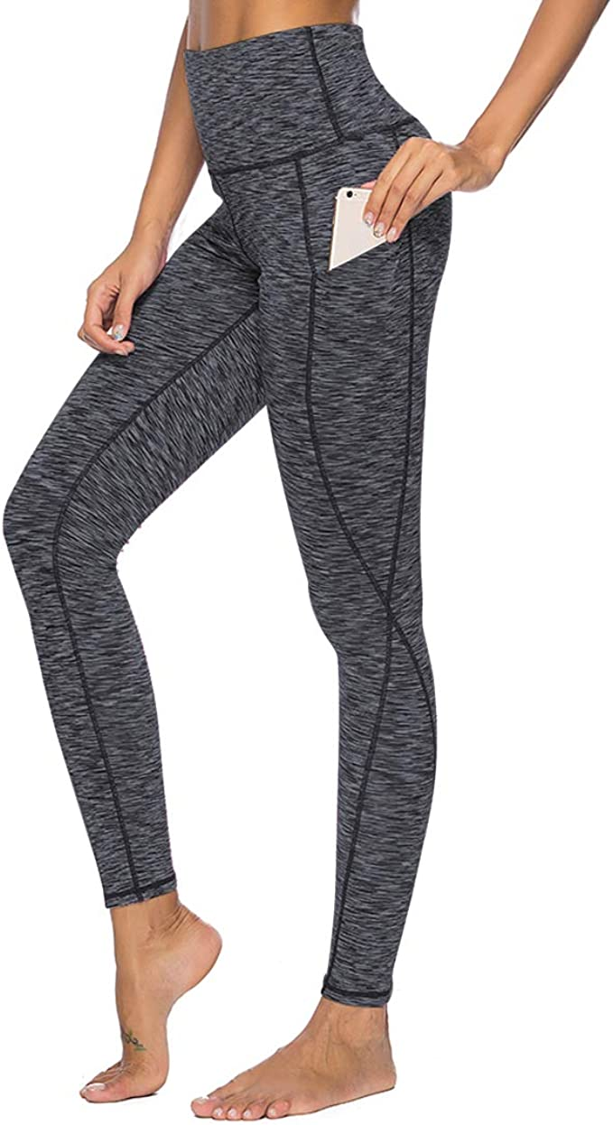 RUUHEE Yoga Pants with Pocket Plus Size Workout Clothes Leggings for Women