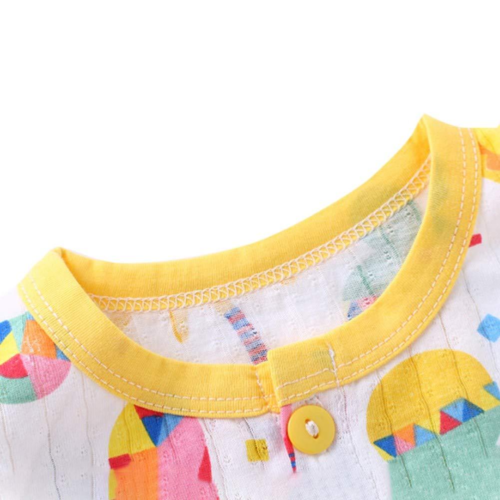 Shorts Miyanuby Ensembles de Pyjama B/éb/é Gar/çon Fille,Ete Coton Manches Courtes Impression de Bande Dessin/ée T Shirt Tops 2 Pi/èces Sleepwear//Nighty//V/êtements de Nuit de Enfants pour 0-3 Ans