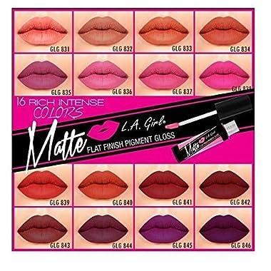 L.a. Girl Matte Pigment Lip Gloss 16 Colors Full Set
