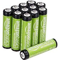 Amazonbasics AAA Oplaadbare Battrijen 800 Mah, Set Van 12 Stuks