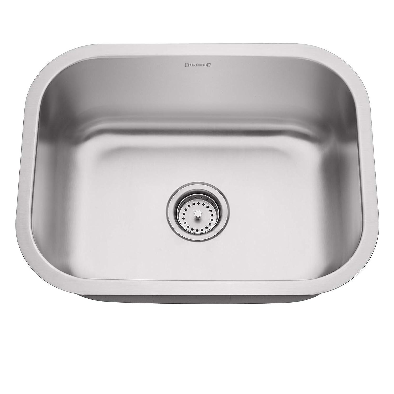 Miligore 24 x 18 x 9 deep single bowl undermount 16 gauge stainless steel kitchen sink includes drain grid amazon com