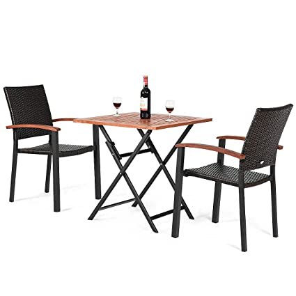 Admirable Amazon Com Heize Best Price Set Of 3 Pcs Patio Outdoor Gmtry Best Dining Table And Chair Ideas Images Gmtryco