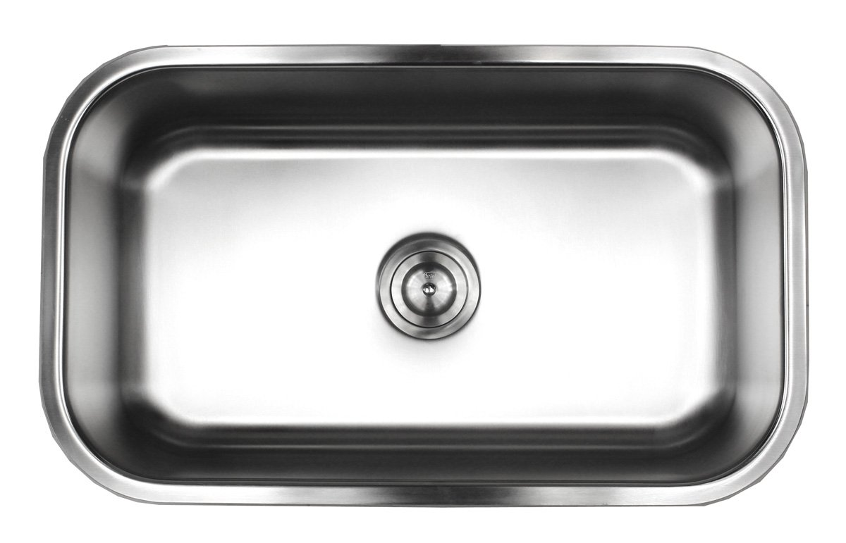 Contempo Living 18-960 30 inch 18 Gauge Stainless Steel Undermount Single Bowl Kitchen Sink 10 inch Deep, by Contempo Living