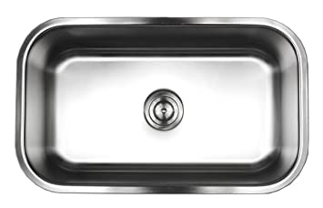 contempo living 18 960 30 inch 18 gauge stainless steel undermount single bowl kitchen sink contempo living 18 960 30 inch 18 gauge stainless steel undermount      rh   amazon com