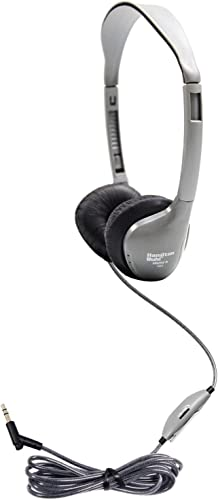 HamiltonBuhl Schoolmate On-Ear Stereo Headphone with Leatherette Cushions and in-line Volume