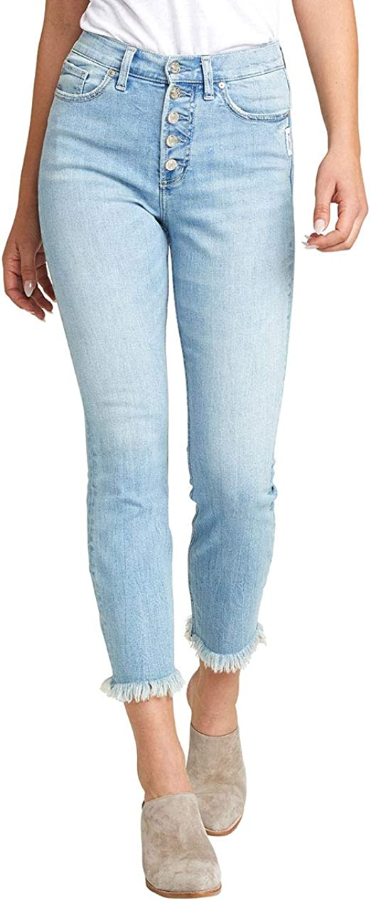 Silver Jeans Co. レディース Calley カービーフィット スーパーハイライズ スリムレッグ ジーンズ