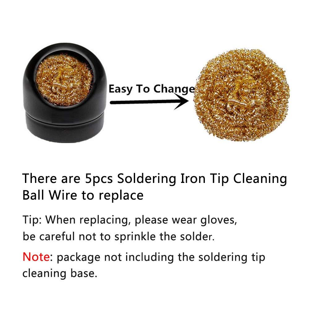 Soldering Iron Tip Cleaner brass Sponge by DroneACC 5pcs Soldering Iron Tip Cleaning Ball Wire