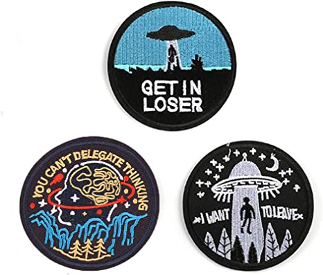 Clothes Funny Iron on Embroidery Cloth Patch Sew on Badge I Want To Leave