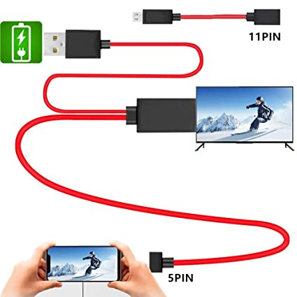 Amazon com: MHL Micro USB to HDMI Cable, MHL to HDMI Adapter