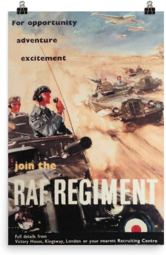 ヴィンテージポスター – Royal Air Force – プレミアム光沢フォト用紙ポスター 24x36