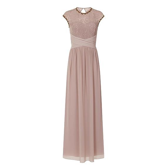 d2f4692f7c Little Mistress Womens Ladies Mink Lace Bust Maxi Dress (12) (Mink)   Amazon.co.uk  Clothing