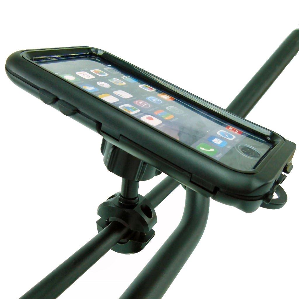 BuyBitsコンパクトハードシェルタフケース自転車クロスバー用マウントIphone 8 plus (5.5インチ画面) B07933BCR1