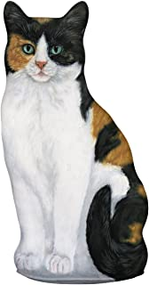 product image for Fiddler's Elbow Calico Cat Door Stop, Decorative Door Stopper, Interior, Cat Doorstop, Gift for Calico Cat Lovers