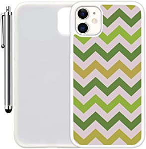 "Custom Case Compatible with iPhone 11 (6.1"") (Colorful Printed Patterned) Edge-to-Edge Rubber White Cover Ultra Slim 