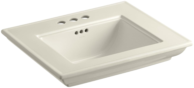 Dune KOHLER K-2345-4-NY Memoirs Bathroom Sink Basin with Stately Design and 4 Centers