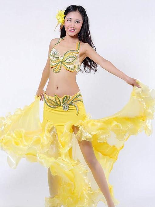 KLMWDDPWY Danza del Vientre Mujer Baile del Vientre Trajes ...