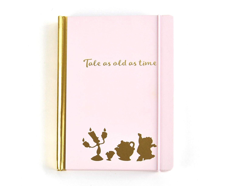 Quaderno La Bella e la Bestia (Beauty and the Beast) A5 Notebook Floral Pink Half Moon Bay