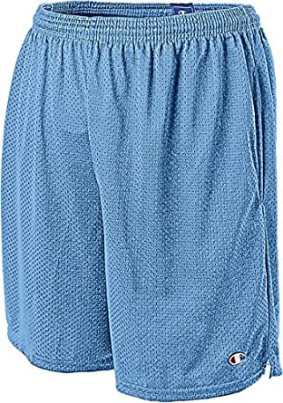 Champion Long Mesh Men's Shorts with Pockets_Swiss Blue_Small