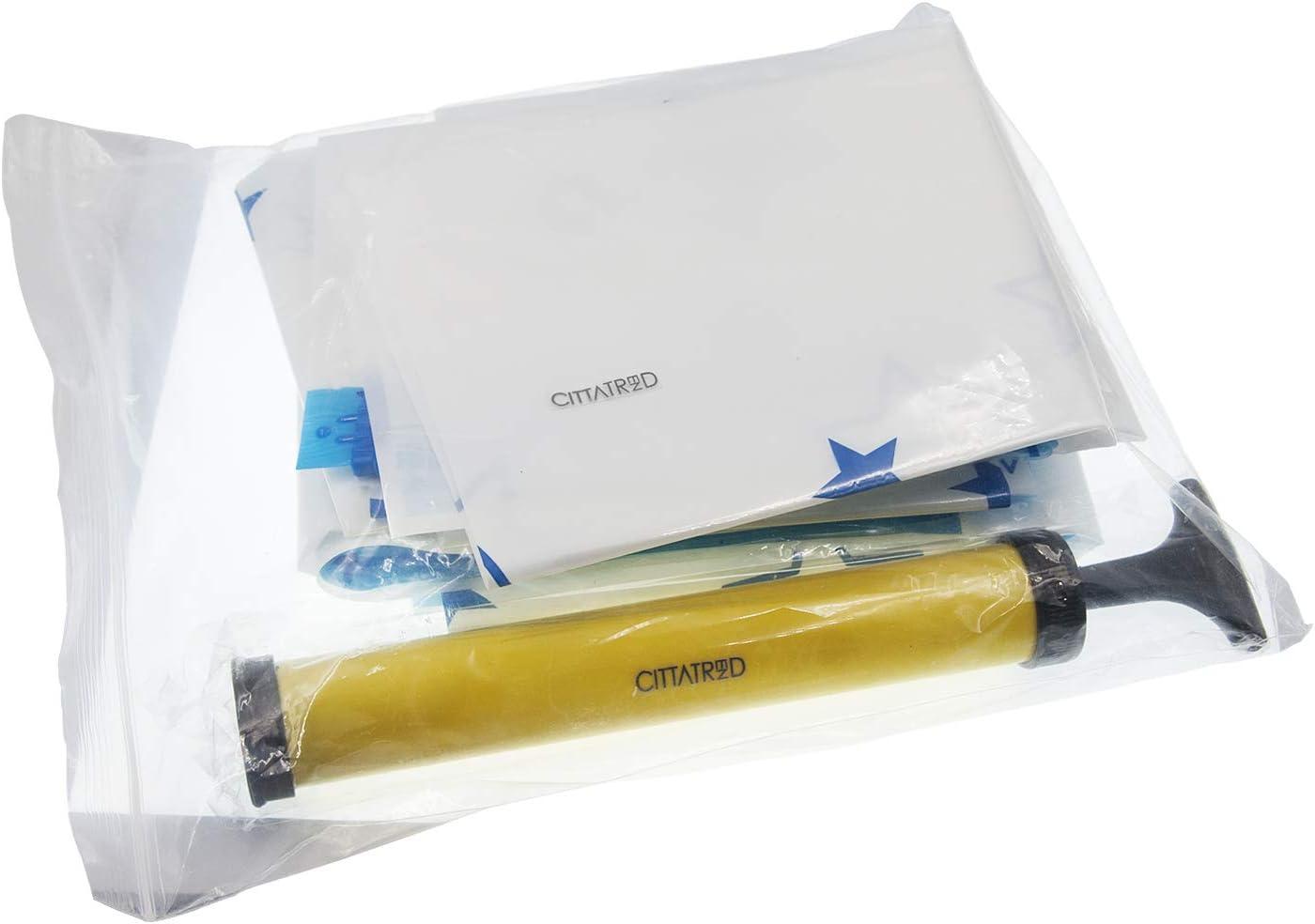 CITTATREND-Bolsa Vacío Ropa Edredón Bolsas Ahorradoras de Espacio Ahorro 75% Espesor 0,09MM Reutilizable Compatible con la Aspiradora Todo en Uno Lote 17