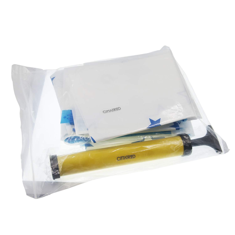 CITTATREND-Bolsa Vac/ío Ropa Bolsas Ahorradoras de Espacio Ahorro 75/% PA PE Espesor 0,09MM Reutilizable Compatible con la Aspiradora 6 Unidades 26,10 x17,40 Pulgada y 1 Bomba