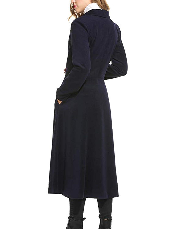 Palazen Women Single Breasted Overcoat Long Trench Coat Outerwear S-3XL