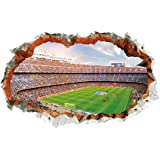 The New 3D World Cup Football Stadium Hole Stadium Perspective Decorative Wall Landscape Painting PVC Stickers