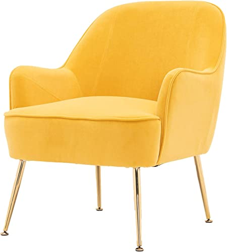 Velvet Fabric Armchair Accent Chair