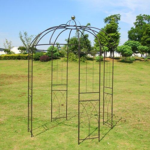Outour Wrought Iron Arch Metal Garden Trellis Arch