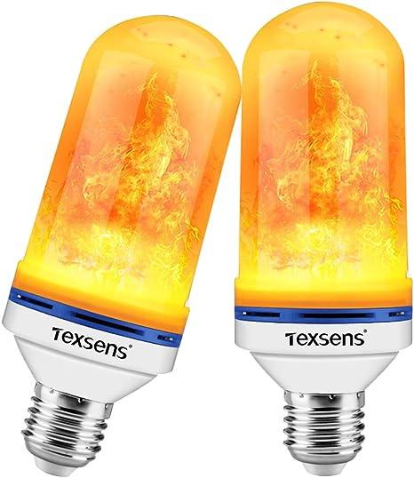 Type: E27//E26 LED Flame Effect Light Bulb LED Simulated Decorative Light Atmosphere Lighting Vintage Flaming Light Bulb LED Flickering Flame Light Bulbs