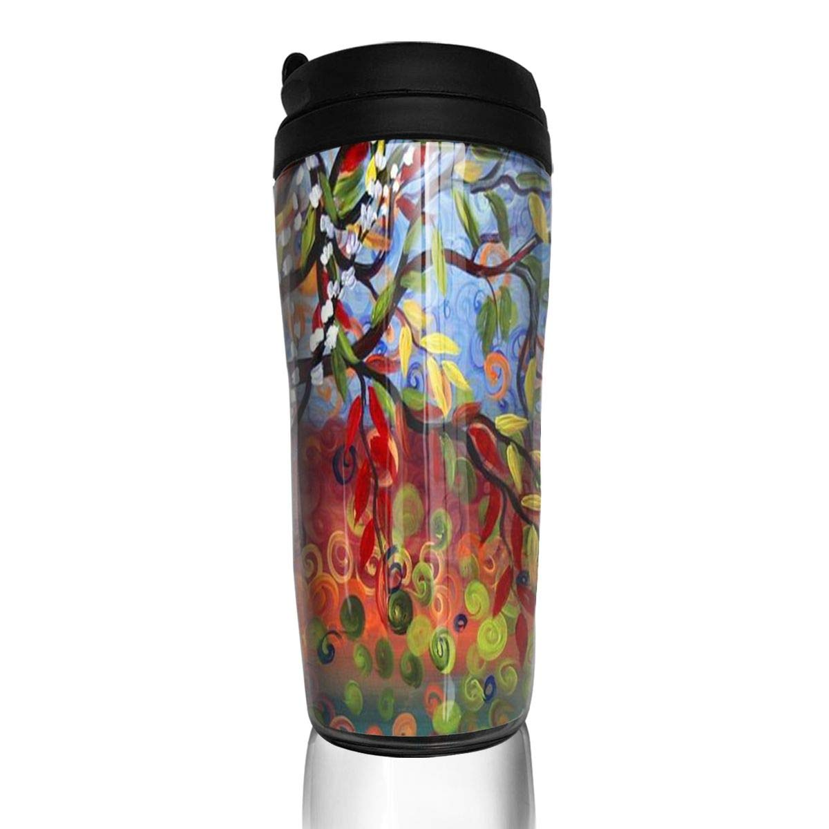 Coffee Mug Four Seasons Tree Travel Tumbler Insulated Leak Proof Drink Containers Holder Stylish 12 Ounces