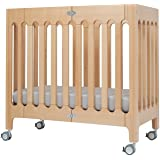 bloom Alma Urban Mini Folding Crib in Natural