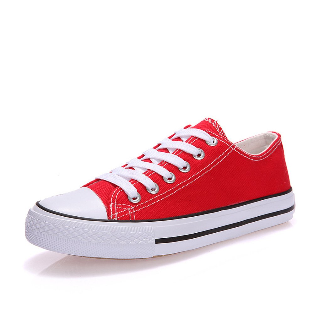 Magone Womens Low Top Classic Canvas Fashion Sneaker red 6