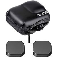 Mini Opbergtas Case voor GoPro Hero9 Zwarte Camera + GoPro Hero 9 Rubber Lens cap Cover, ULBTER Draagtas Draagbare dozen…