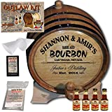 Personalized Outlaw Kit (Mark's Kentucky Bourbon) From American Oak Barrel - Design 062: Barrel Aged Bourbon (3 Liter)