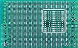 BB3UC BusBoard-3U-CONN, Zig-zag Busses, Connector Footprints, 1 Sided PCB, Soldermask, 3.94 x 6.30 in (100 x 160 mm)