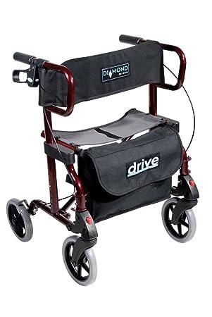 Deambulateur Fauteuil De Transfert 2 En 1 Double Usage Rollator Et Chaise Roulante Avec Repose