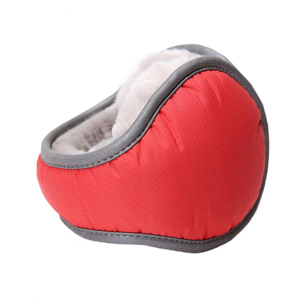 Leories Waterproof Ear Warmer Unisex Foldable Ear Warmers Polar Fleece Winter Earmuffs TC-YN11013 Black