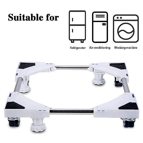 Base ajustable móvil multifuncional Smonter con 4 ruedas giratorias dobles de goma con bloqueo