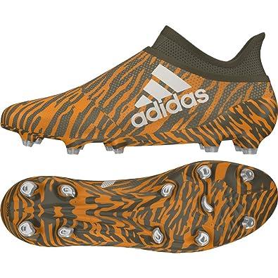 new styles f0a31 3b888 adidas X 17+ Purespeed FG, Chaussures de Football Homme, Vert Oliv Orange