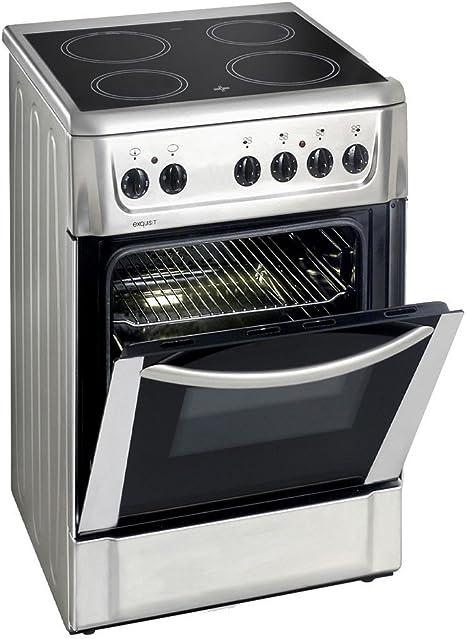 Eléctrico Stand Cocina vitrocerámica 46 litros horno Exquisit ...