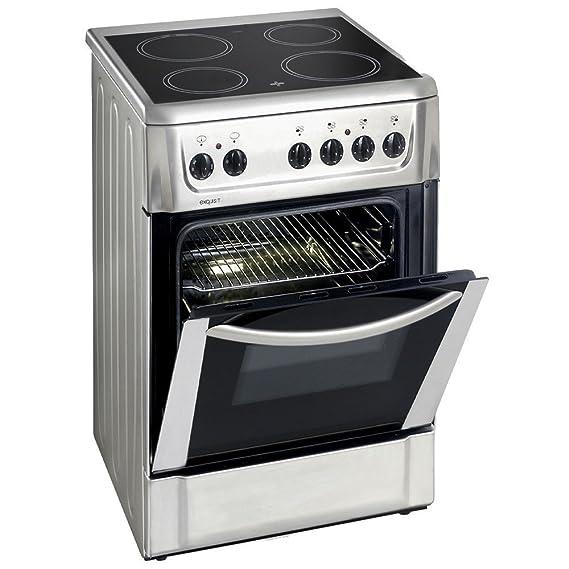 Eléctrico Stand Cocina vitrocerámica 46 litros horno Exquisit ecm5 ...