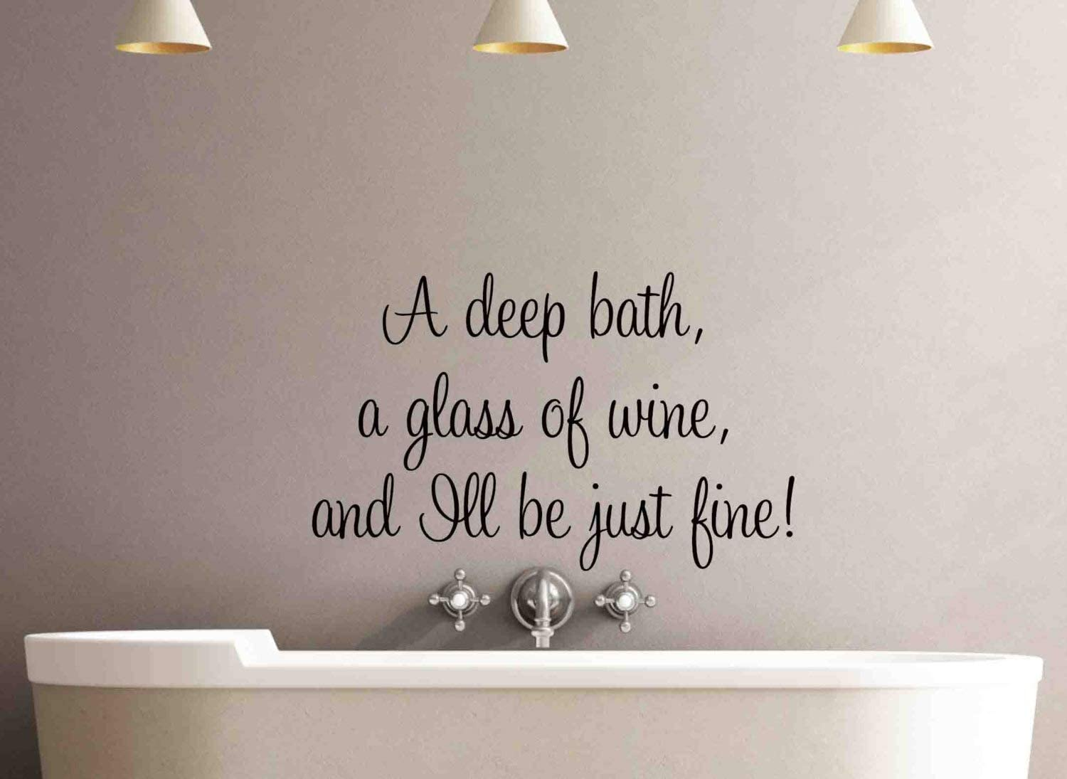 Best Design Amazing A deep Bath Wall Decal Quote-Bathroom Wall Decal-Removable Wall Decal-Wall Decor-Wall Art-Wall Decal-Bathroom Decor-Bathroom Wall Decal Made in USA!