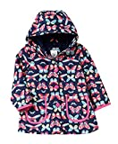 Carter's Big Girls' Her Favorite Rainslicker Rain Jacket (5/6, Navy Butterfly)