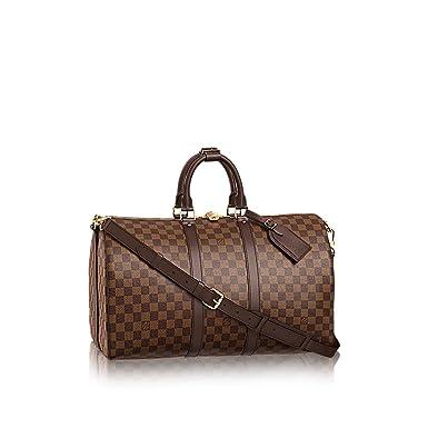 d6234fd638 Louis Vuitton Damier Ebene Canvas Bandouliere Keepall 45 Travel Bag ...