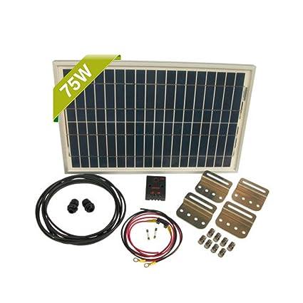 amazon com : newpowa 70w watt panel 12v solar battery charging system kit  marine rv diy(phocos controler + mounting hardware + cable w/ fuse) :  garden &