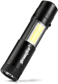 VENMO Multifunci/ón port/átil Cree XPE-R3 COB l/ámpara trabajo luz linterna antorcha herramienta Linterna mini
